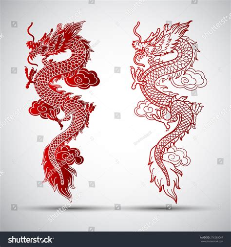 dragon tattoo vector illustration for illustration of traditional vector