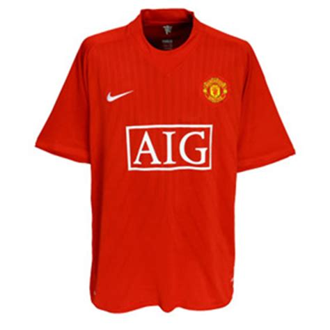manchester united official soccer jerseys official soccer nike manchester united soccer jersey home 08 09
