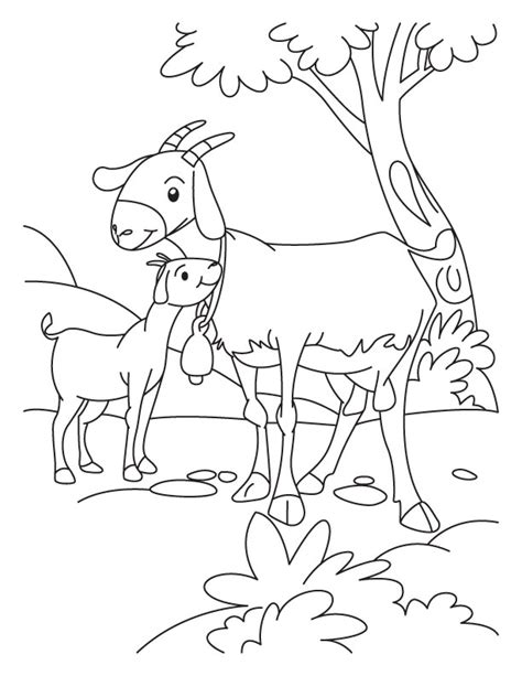 free cartoon goats coloring pages