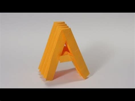Origami Letter A - origami letter a the secrets of origami