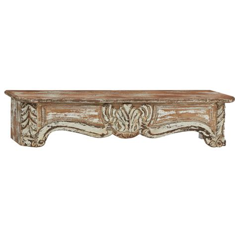 woodland imports rustic and timeless wood wall shelf