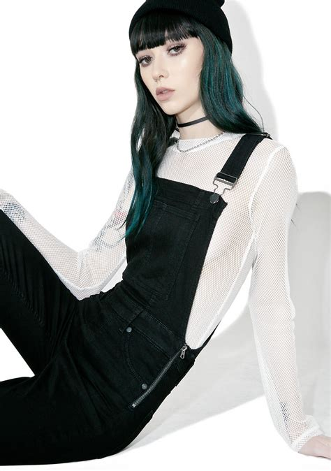 Black Cheap Monday cheap monday spray black dungaree dolls kill
