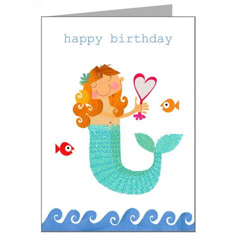 Mermaid Birthday Card Mermaid Birthday Card By Kali Stileman Publishing