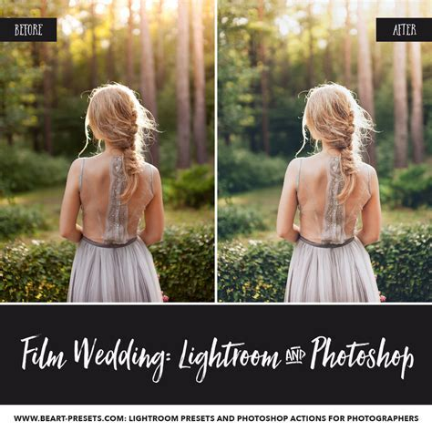 Film wedding lightroom presets, photoshop actions and acr