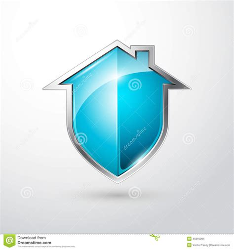 blue shield icon as symbol of access protection on