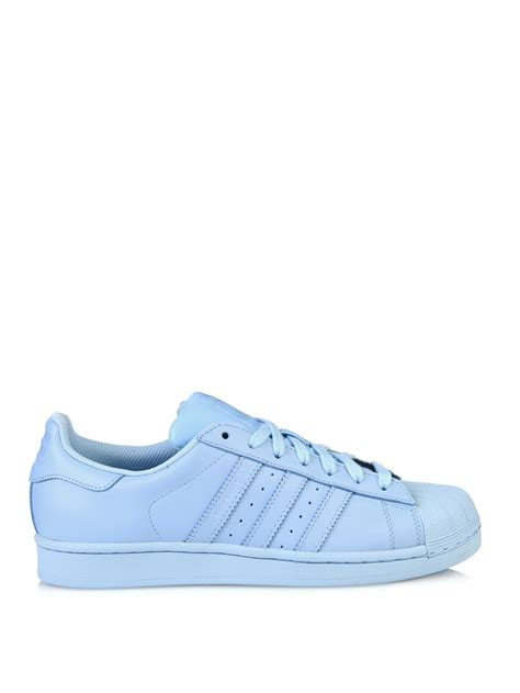 Adidas Supercolor Blue adidas superstar supercolor leather trainers in blue lyst