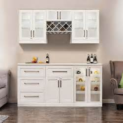 How To Set Kitchen Cabinets by Home Wine Bar 7 Cabinetry Set By Newage Products