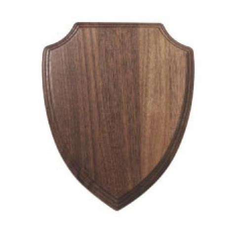 Wooden Shield Type Crest Amecon