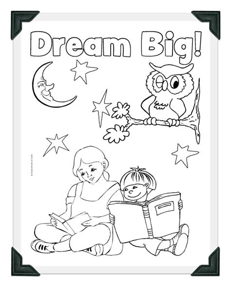 printable dream big coloring sheet crafts library