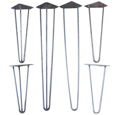 Vintage Table Legs by Designer Antique Iron Industrial Retro Hairpin Table Legs