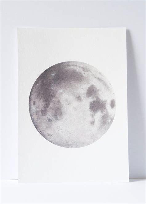watercolour moon print moon art space art lunar art moon painting science drawing