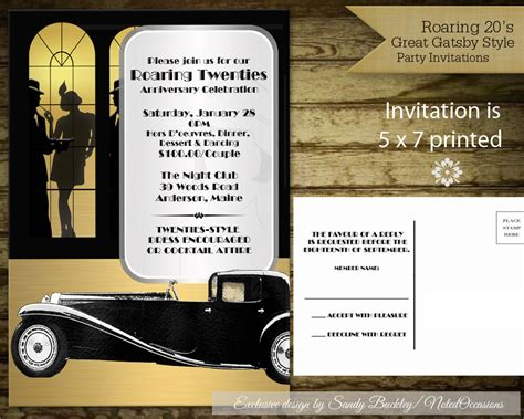 Roaring 20 S Party Invitations Roaring 20s Invitation Template Free