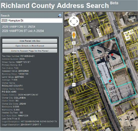 County Finder By Address Property Search Beta Richland County Gis