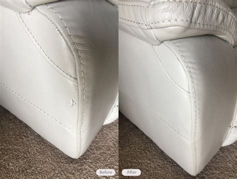 leather couch tear repair photo leather sofa tear repair and re dye in brandon