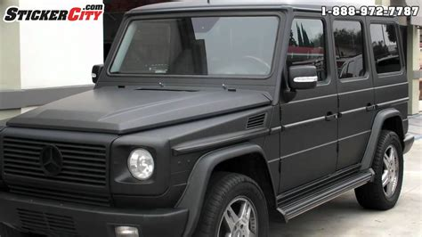 mercedes g wagon blacked matte black mercedes g wagon by stickercity com youtube