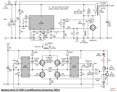 Mesin Inverter H L Mma 150 142044 gt circuits gt switching transformerless dc ac 12v 230v 150w