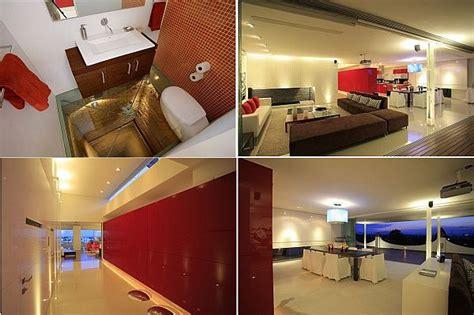 bathroom glass floor modern penthouse with an glass bathroom floor