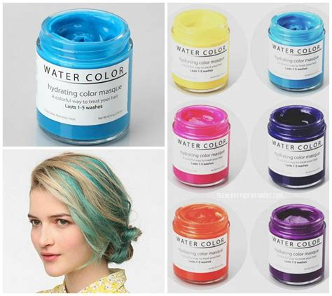 water color hydrating hair color mask change your hair color in minutes with these clever