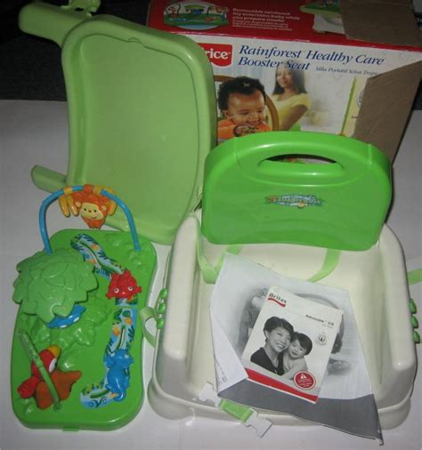 fisher price booster seat rainforest fisher price rainforest healthy care booster seat ebay