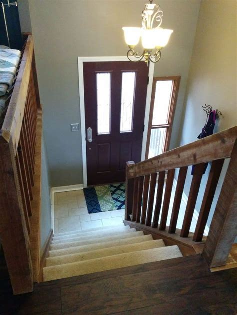foyer staircase split foyer staircase gets a makeover hometalk