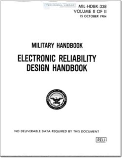 design for reliability electronics handbook series books mil hdbk 338 abbott aerospace sezc ltd