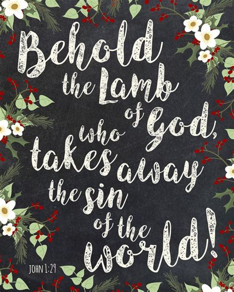 images of christmas with scripture behold the lamb of god john 1 christmas wall art