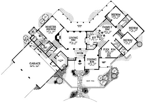 adobe home floor plans adobe southwestern style house plan 4 beds 3 50 baths