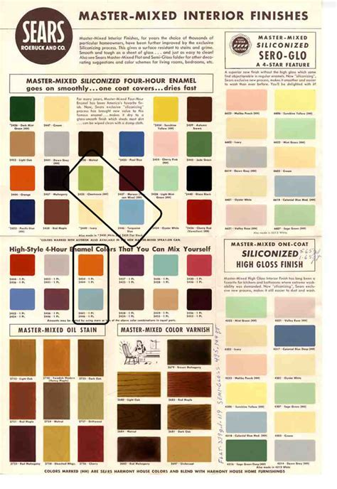 sears interior paint colors