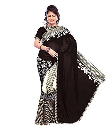 priyanka chopra in ethnic wear nandani ethnic wear black net saree buy nandani ethnic