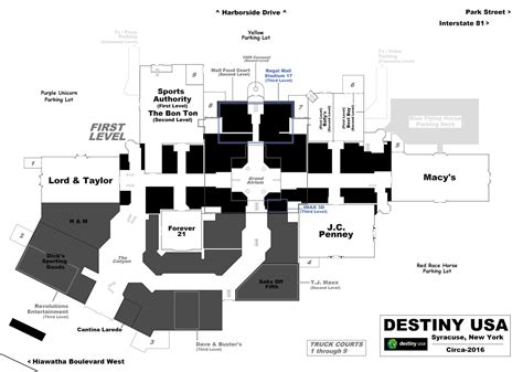 destiny usa map of mall the shopping mall museum