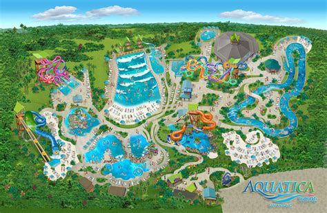 seaworld texas map aquatica
