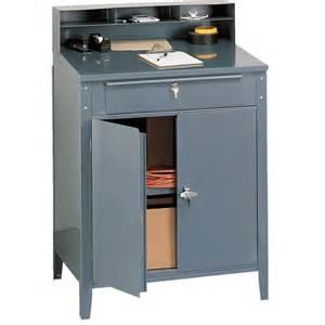 shop desk lockable steel shop desk w cabinet gempler s