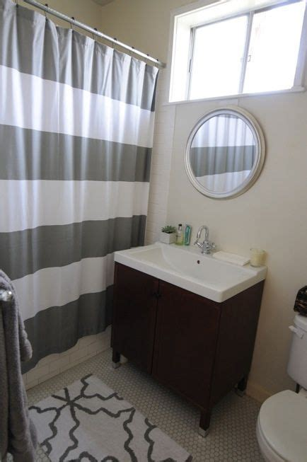 grey and white striped bathroom 1000 ideas about small grey bathrooms on pinterest
