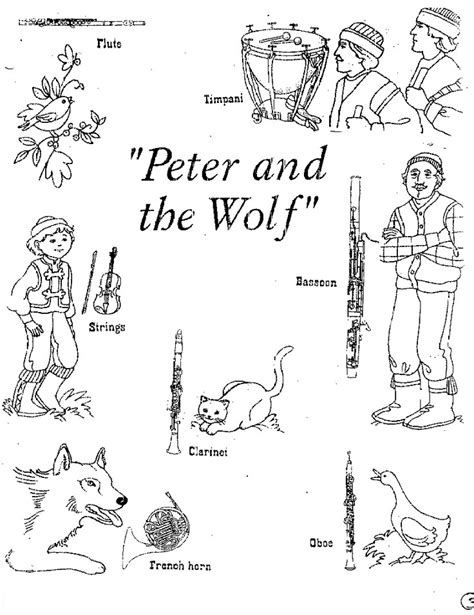 preschool wolf coloring pages peter and the wolf coloring pages peter and the wolf