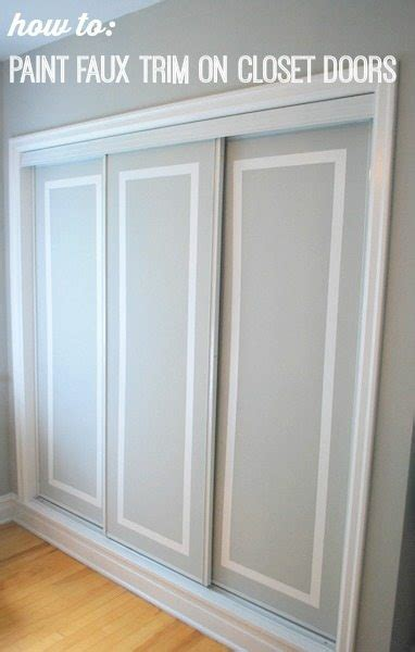 How To Remove A Closet Door Painted Sliding Closet Doors Faux Trim Effect The Sweetest Digs