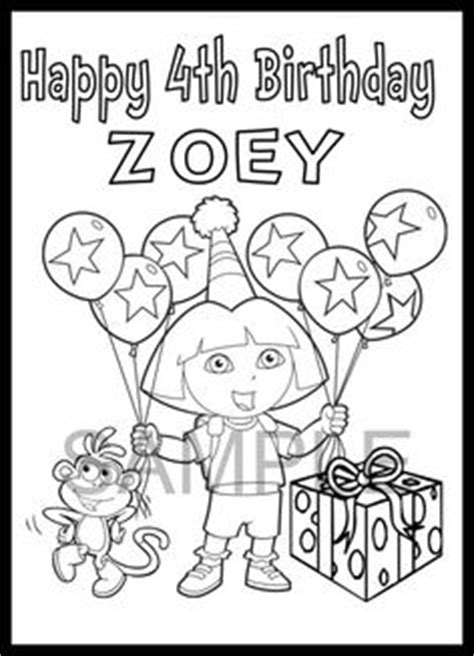 happy birthday dora the explorer coloring pages dora stars printables made stars with googlie eyes to