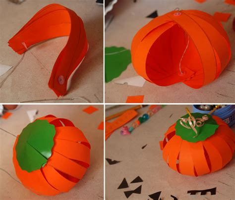 Pumpkin Construction Paper Crafts - easy decorations and crafts to save money