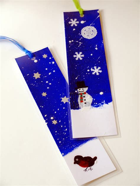 Paper Bookmarks - snow paper artful adventures