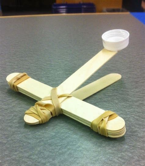 Handmade Catapults - librarian out loud catapults in the library