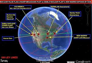 ley lines california map yellowstone false flag haarp quake volcanic alert 5 3