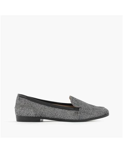 j crew silver loafers j crew collins glitter loafers in silver silver black