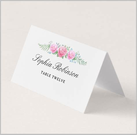 table card template wedding 5032 9 restaurant place card designs templates psd ai