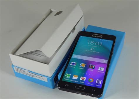 Samsung Galaxy A5 Unboxing samsung galaxy a5 unboxing metal smartphone with slim waistline taken out of the box