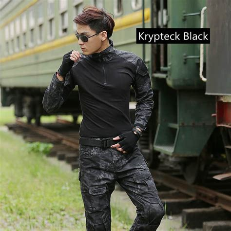 Bodysuit Combat Shirt Black tactical frog suit outdoor sports airsoft us army tactical combat