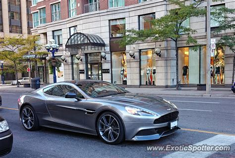 Aston Martin Canada by Aston Martin Vanquish Spotted In Toronto Ontario Canada