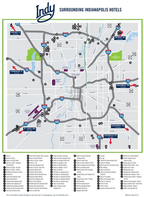 indiana resort map indianapolis area hotel map