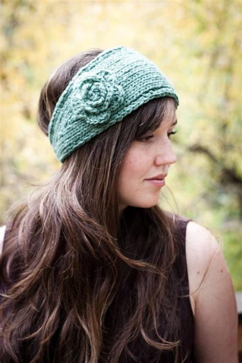 knitted headband patterns knitted headband with flower patterns a knitting
