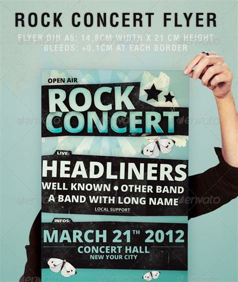rock concert flyer party pops fonts and poster prints