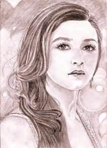 alia bhatt drawing by linda prediger