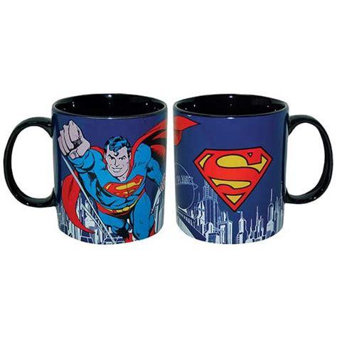 Asmodee Cups by Superman Stoneware 14 Oz Blue Mug Westland Giftware Superman Mugs At Entertainment Earth